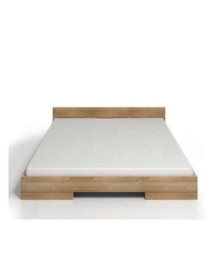 Dvoulůžková postel z bukového dřeva ve skandinávském stylu