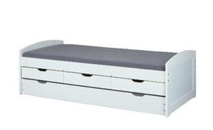 Jednolůžková postel s výsuvným lůžkem a úložným prostorem