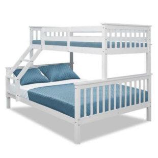 Patrová postel s roštem s kapacitou až pro 3 osoby