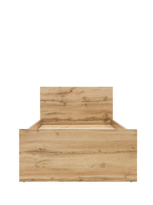Praktická jednolůžková postel 90 cm v dekoru dub votan