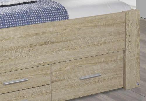 dvoulůžková postel s dostatkem úložného prostoru