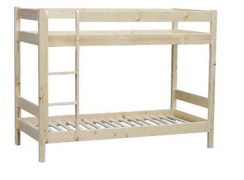 moderní a praktická patrová postel ze dřeva