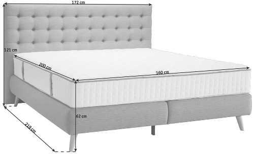 Pohodlný vysoký sed postele díky výšce matrace