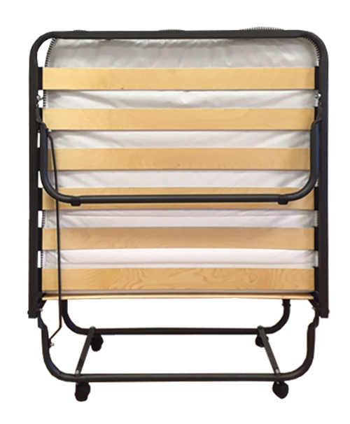 Složená postel pro hosty nezabere příliš místa a uschováte ji klidně i do skříně