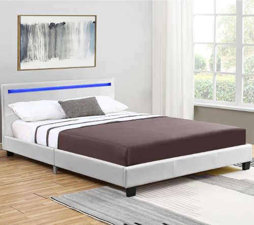 stylová manželská postel s LED osvětlením