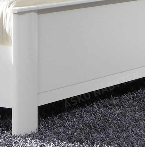 Bílá manželská postel Asko nábytek