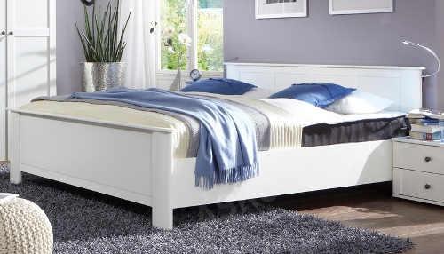 Bílá manželská postel ve venkovském stylu Chalet 180x200 cm