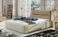 Čalouněná postel pro mladé s velkým úložným prostorem