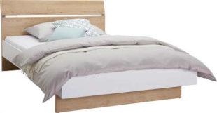 Dubová postel 140 x 200 cm z kompozitního dřeva