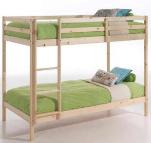 Levná dřevěná patrová postel masiv smrk