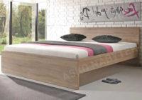 Levná manželská postel Malmö dub sonoma 180 x 200 cm