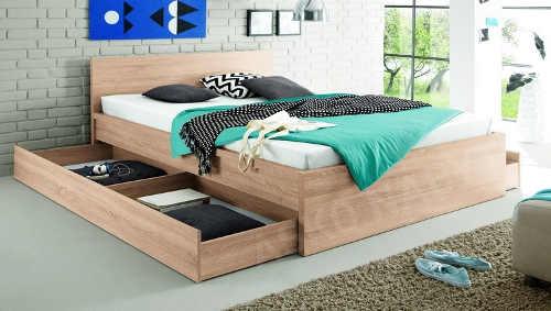 Možnost dokoupení šuplíkové úložného prostoru pod manželskou postel