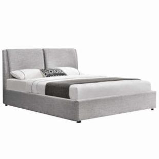 Dvoulůžková postel s lamelovým roštem a úložným prostorem