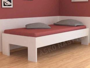 Jednolůžková postel v moderním provedení o rozměru 90x200 cm