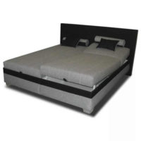 Polohovací postel v černo-šedém provedení o rozměru 180x200 cm