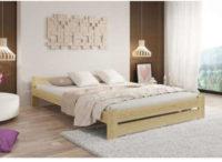 Vyvýšená dvoulůžková postel z masivu včetně roštu