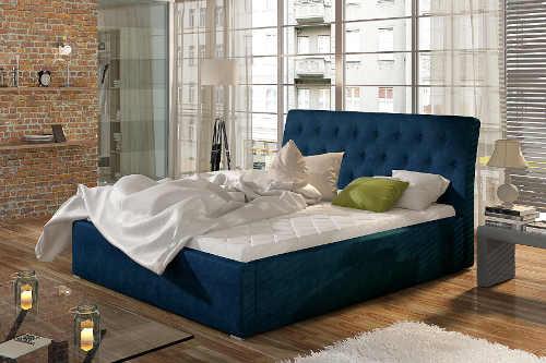 čalouněná postel s roštem