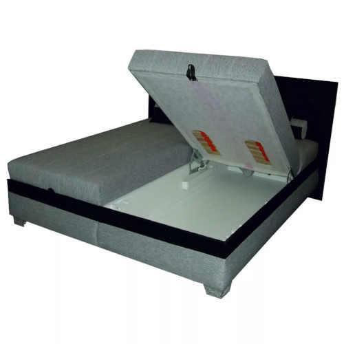 černo-šedá dvoulůžková polohovací postel
