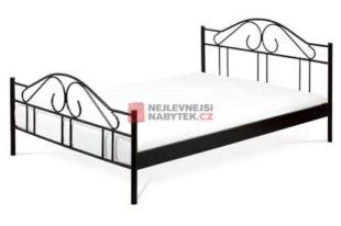 dvoulůžková kovová postel v provedení černá