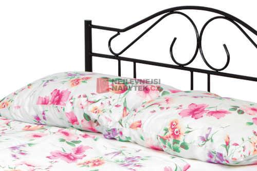 dvoulůžková postel černá z kvalitního materiálu
