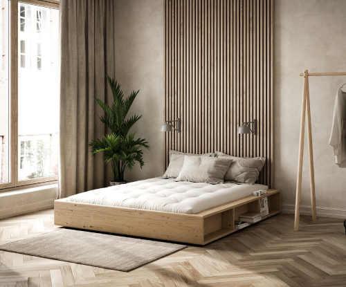 dvoulůžková postel z masivního materiálu