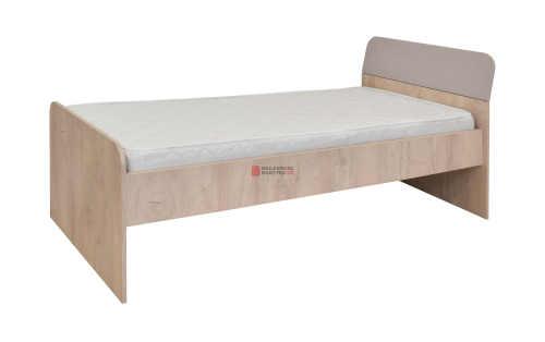 Jednolůžková postel v klasickém provedení dekor dub-písek