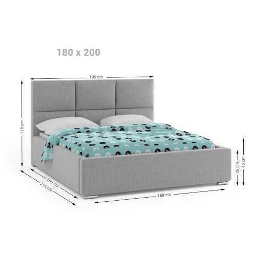 manželská postel v různém barevném čalounění