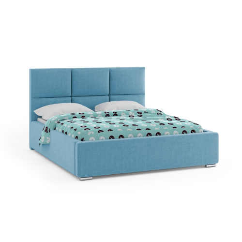 moderní čalouněná dvoulůžková postel