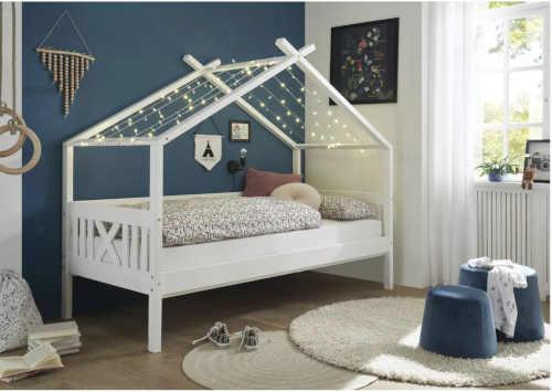 postel s nebesy bílá pro holku i kluka