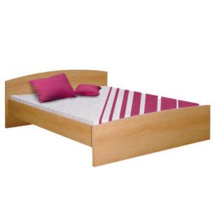 Dvoulůžková postel 160x200 cm s vyšším čelem v dekoru buk