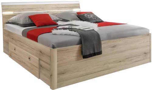 Futonová postel 140x200 cm s moderním LED osvětlením