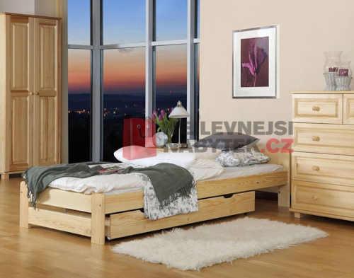 Jednolůžková postel v klasickém provedení z masivu