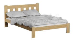 Manželská postel 140x200 cm z masivu v nadčasovém provedení
