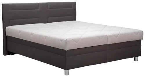 Moderní čalouněná manželská postel včetně roštu i matrace