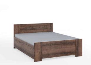 Moderní manželská postel s roštem z kvalitního lamina