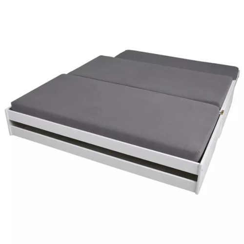bílá rozkládací postel z masivu