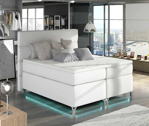 čalouněná postel boxspring různé barevné varianty