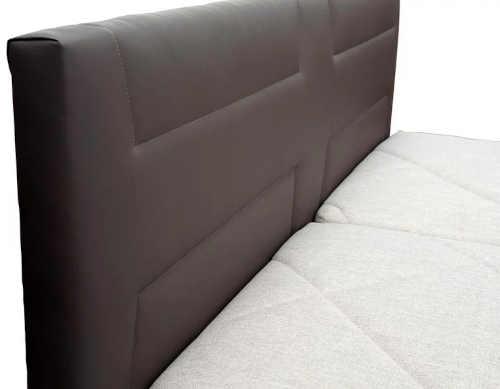 čalouněné dvoulůžko s matrací a roštem
