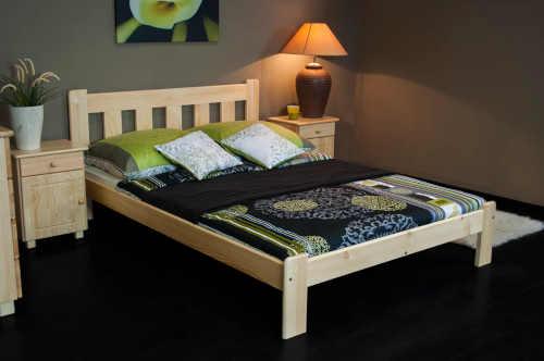 manželská postel Brita z masivu