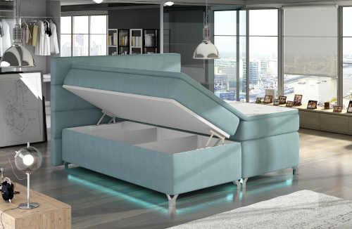 manželská postel s LED podsvícením