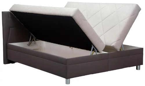 manželská postel s úložným místem s roštem i matrací