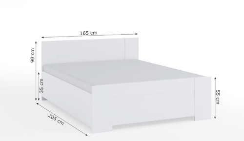 moderní postel z lamina