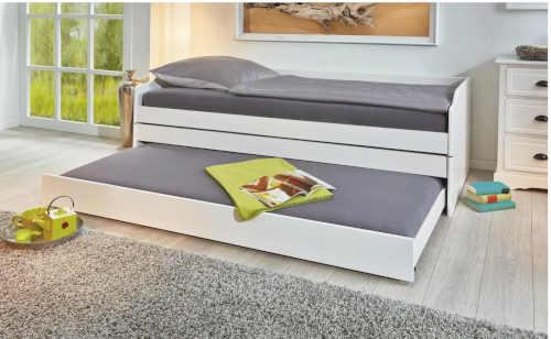 praktická postel rozkládací z masivu