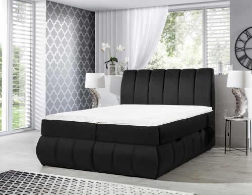 Čalouněná postel typu boxspring v elegantním designu