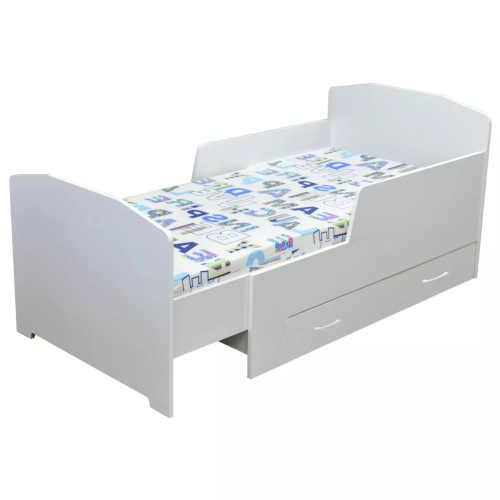 Dětská rostoucí postel BAMBI v bílém neutrálním provedení