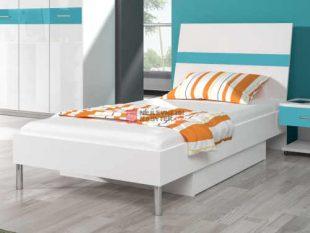Jednolůžková postel z lamina s úložným prostorem