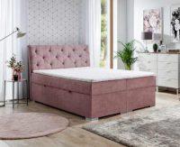 Kontinentální postel boxspring včetně roštu i matrace