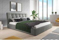 Moderní dvoulůžková čalouněná postel v nadčasovém designu