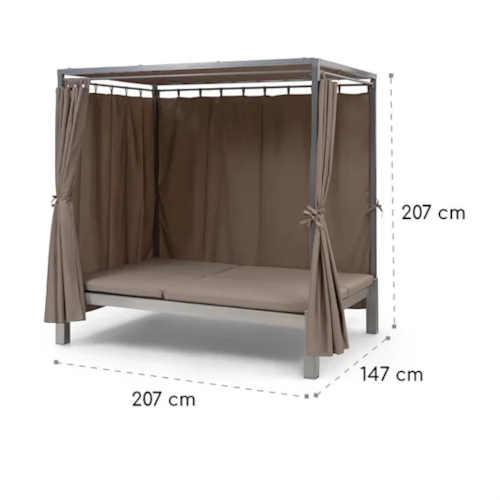 luxusní venkovní postel pro dva