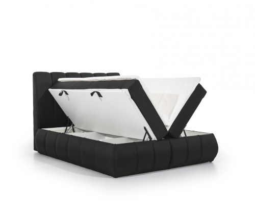 manželská čalouněná postel boxspring
